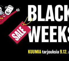 BLACK FRIDAY -TARJOUKSET OVAT TÄÄLLÄ!